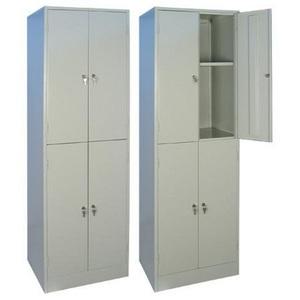 Шкаф гардеробный двухсекционный четырехячеечный WR-24-175-60